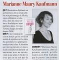 Photo de Marianne Maury Kaufmann parue dans L'Express style (3 Avril 2013)